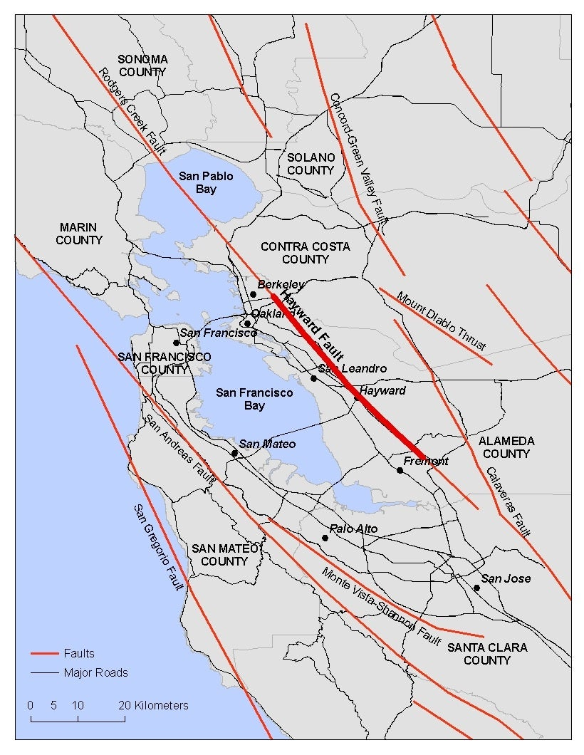 Living In Earthquake Country Rms The red line on this map follows the surface trace of the san andreas fault across california. living in earthquake country rms