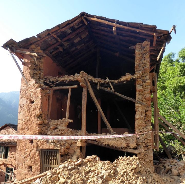 Nepal Damaged home