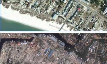 Mexico Beach before after