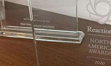 "Reactions North America 2020 Award for ""Risk Modeling Company of the Year"